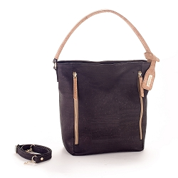 ARTELUSA Top-Handle Tote Bag Black/Natural Removable/Adjustable Strap