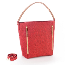 ARTELUSA Top-Handle Tote Bag Red/Brown Removable/Adjustable Strap