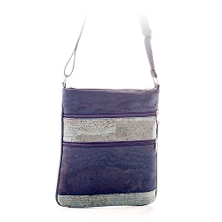 ARTELUSA Crossbody Bag Blue with Zips Removable/Adjustable Strap