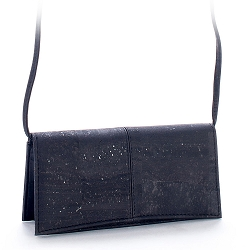 ARTELUSA Clutch Pochette Handbag Black Removable Shoulder Strap