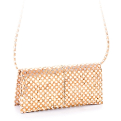 ARTELUSA Clutch Pochette Handbag Polka Dots Removable Strap
