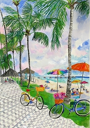 Bicycles With Baskets Jigsaw Puzzle 1000 pieces - Original Artwork 30