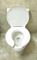 Toilet Seat 3W - Open Front w/Cover - 1,200lbs - White