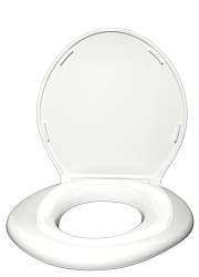 Standard Heavy Duty Toilet Seat 6W - Closed with Cover - 800lbs - White