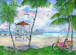 Bike To The Beach Jigsaw Puzzle 550 pieces - Original Artwork 24