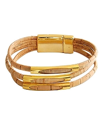 ARTELUSA Gold Tone Three-Strand Corded Bracelet