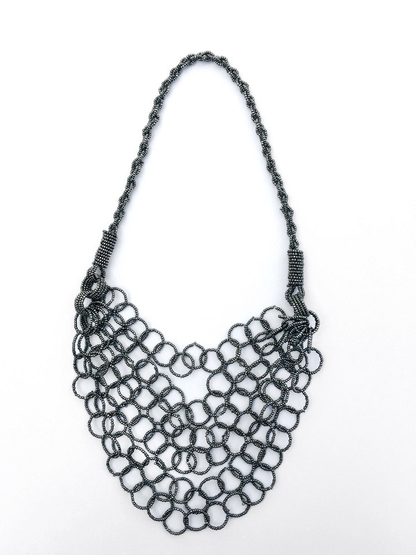 Silver Bead Necklace - Handmade in Bali