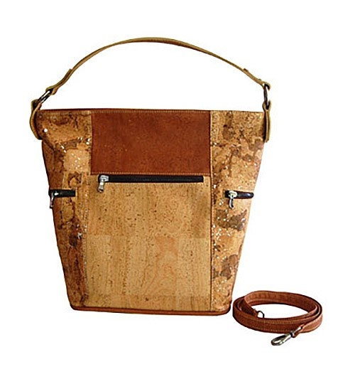 CORX 'Kenia' Cork Shoulder Handbag Removable Strap Eco-Friendly Handmade in Portugal